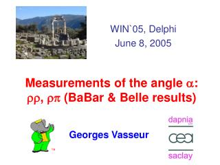 Measurements of the angle  a :  rr ,  rp  (BaBar & Belle results)