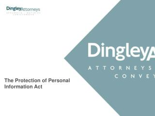 The Protection of Personal Information Act