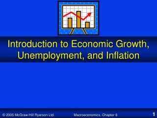 Introduction to Economic Growth, Unemployment, and Inflation