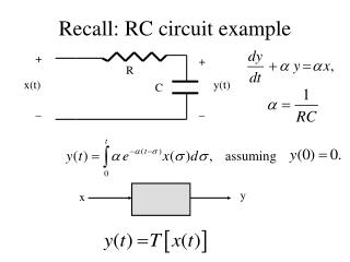 Recall: RC circuit example