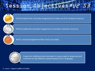 Session Objectives #U2 S3