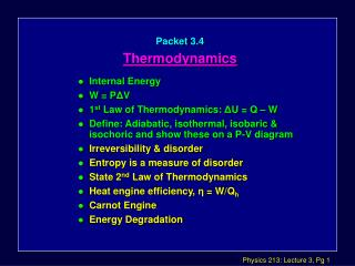 Packet 3.4 Thermodynamics