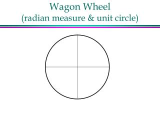 Wagon Wheel (radian measure & unit circle)