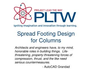 Spread Footing Design  for Columns