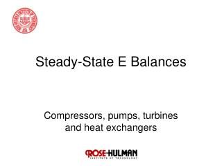 Steady-State E Balances