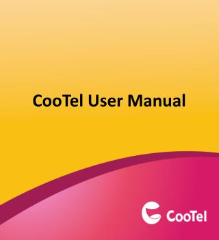 CooTel  User Manual