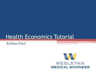 Health Economics Tutorial