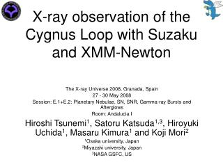 X-ray observation of the Cygnus Loop with Suzaku and XMM-Newton