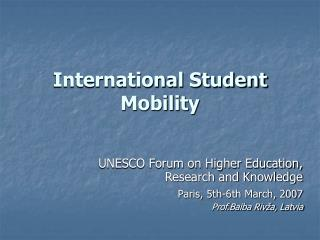 International Student Mobility