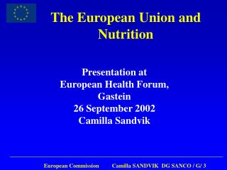 The European Union and Nutrition