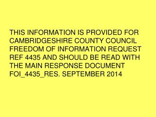 Undertaken for Cambridgeshire Criminal Justice Board Offender Subgroup Sept 2014