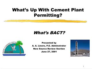 What's Up With Cement Plant Permitting?