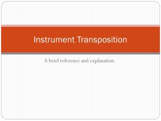 Instrument Transposition