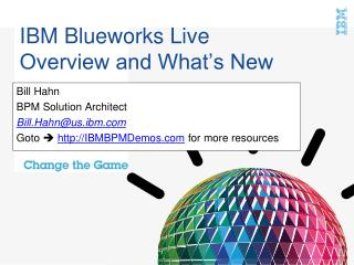 IBM Blueworks Live Overview and What's New