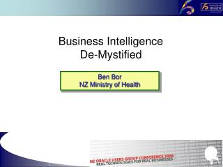 Business Intelligence De-Mystified