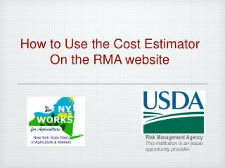 How to Use the Cost Estimator On the RMA website