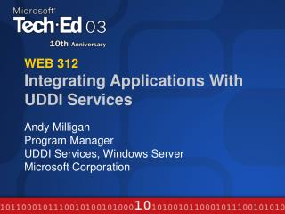 WEB 312 Integrating Applications With UDDI Services