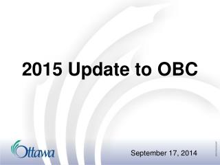 2015 Update to OBC