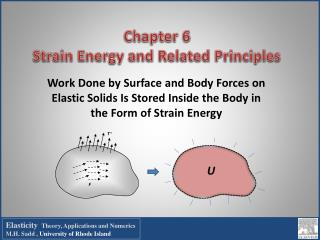 Chapter 6   Strain Energy and Related Principles