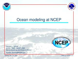 Ocean modeling at NCEP