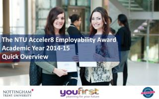 The NTU Acceler8 Employability Award Academic Year 2014-15 Quick Overview
