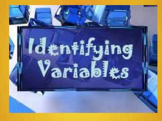 Remember... Independent Variables answer the question... What do I change?