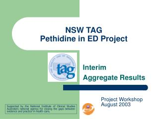 NSW TAG Pethidine in ED Project