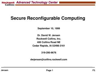 Secure Reconfigurable Computing