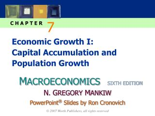 Economic Growth I:   Capital Accumulation and Population Growth