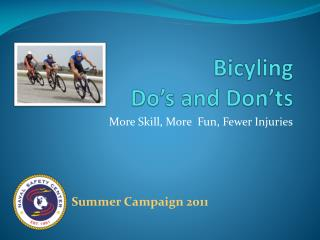 Bicyling Do's and Don'ts