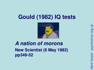 Gould (1982) IQ tests