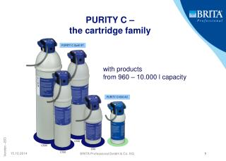 PURITY C – the cartridge family