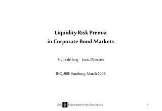 Liquidity Risk Premia  in Corporate Bond Markets