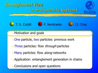 Entanglement flow 	            in multipartite systems