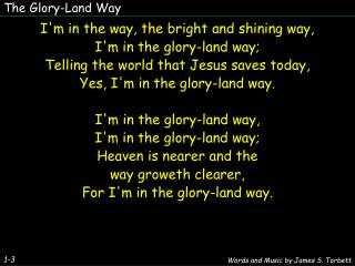 The Glory-Land Way