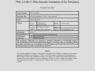 TR41.3.3-05-11-004a-Acoustic Impedance of Ear Simulators