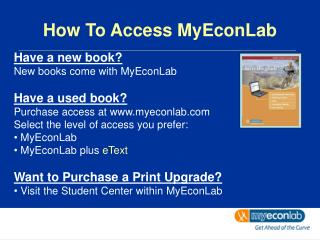 How To Access MyEconLab