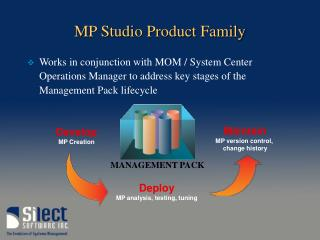 MP Studio Product Family