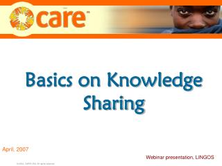 Basics on Knowledge Sharing