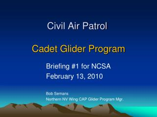 Civil Air Patrol  Cadet Glider Program