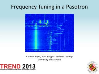 Frequency Tuning in a  Pasotron