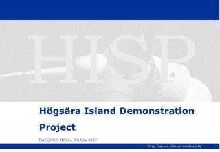Högsåra Island Demonstration Project