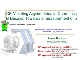 CP-Violating Asymmetries in Charmless B Decays: Towards a measurement of  a