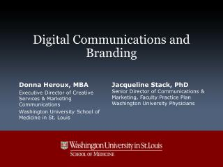 Digital Communications and Branding