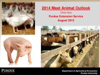 2014 Meat Animal Outlook Chris Hurt Purdue Extension Service August 2013
