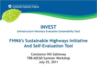 INVEST (Infrastructure Voluntary Evaluation Sustainability Tool)