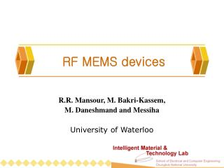 RF MEMS devices