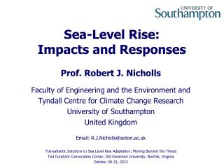 Sea-Level Rise: Impacts and Responses