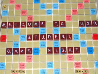 Word game for 2-4 players. Form words cross-word style using letters of different values.