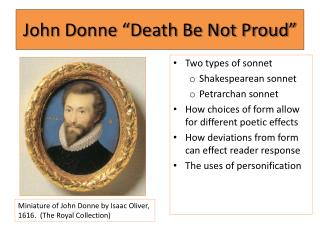 "John Donne ""Death Be Not Proud"""